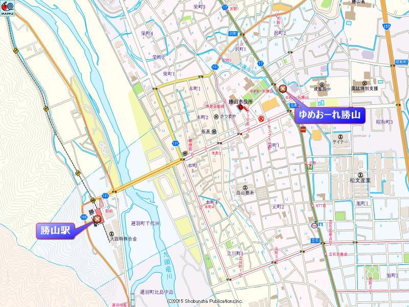 めおーれ勝山の周辺地図