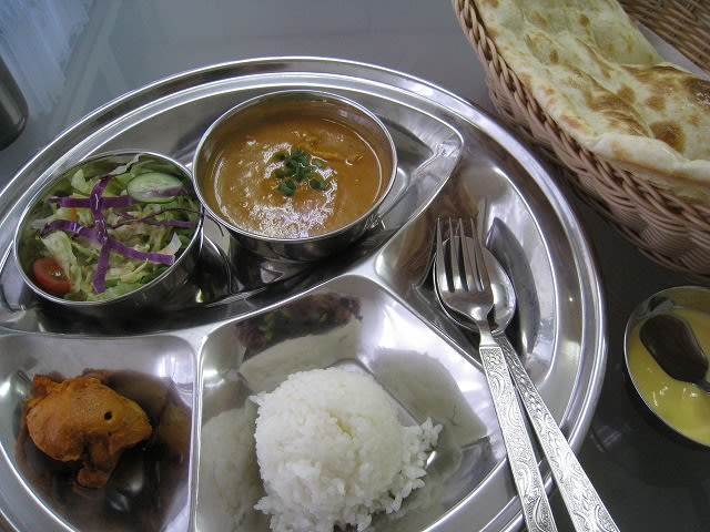 Aセット(チキンカレー)