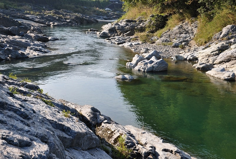 芝崎の奇岩吉野川