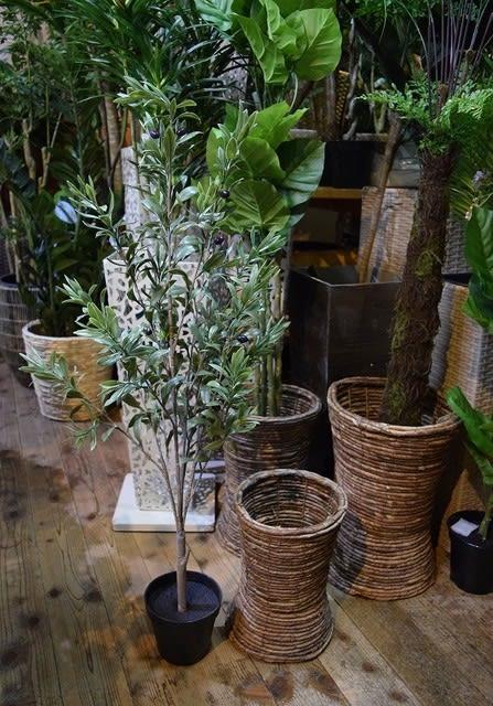 人工観葉植物 オリーブ フェイクグリーン