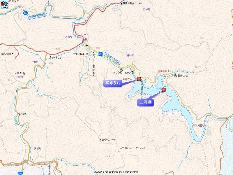 羽布ダムの地図