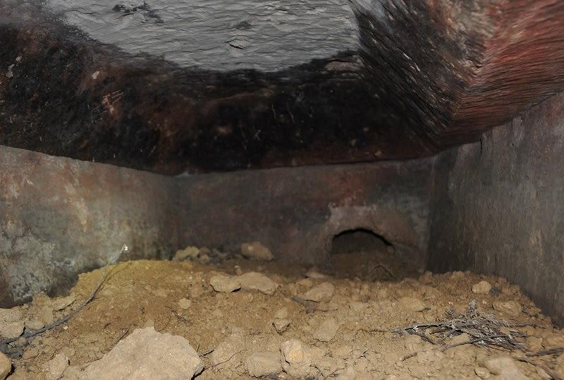 東乗鞍古墳の石棺の内部