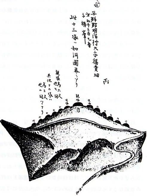 十三峠の十三塚図