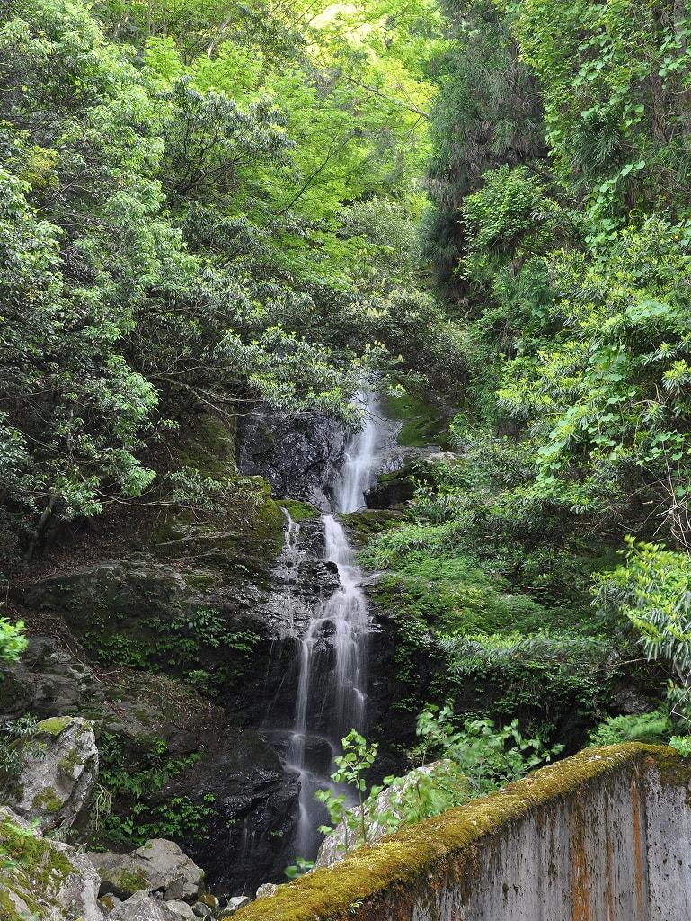 ヌスット谷大滝遠景