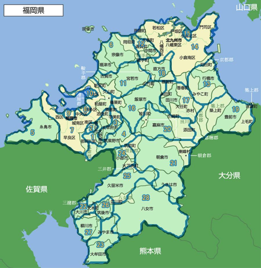 コロプラマップ36 福岡県 - JUNK...