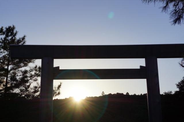伊勢神宮内宮の朝日見てきました〜(^^)