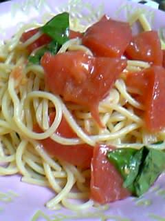 冷製スパゲッティー@今日の夕飯
