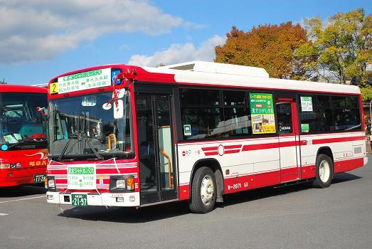 11月の行楽シーズンのピーク時に 清水シャトルバス 京阪バス 11月の収穫