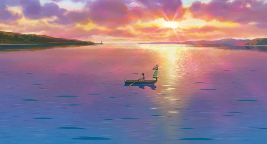 感動するくらい綺麗な夕日