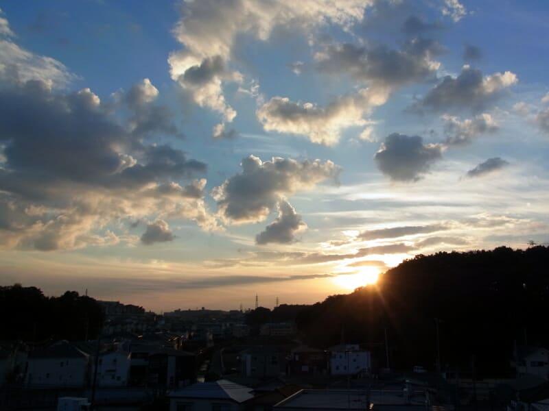 10月16日 根岸台の夕陽