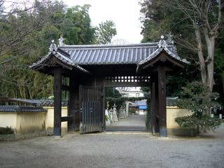 鞭崎八幡宮の表門