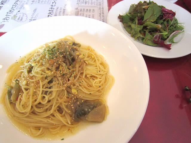 パスタランチ(ザーサイと豆もやしの胡麻油風味)