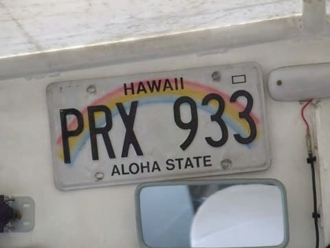 ハワイのナンバープレート