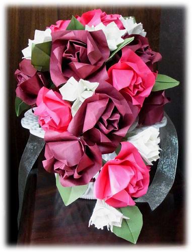 すべての折り紙 折り紙 バラの花束 : 折り紙作品no.1…キャスケード ...