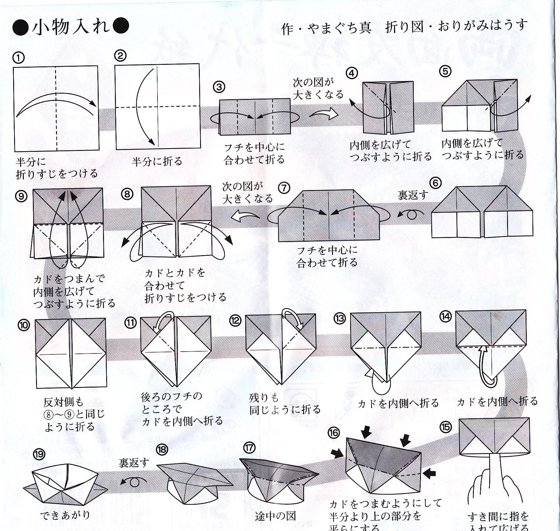 すべての折り紙 折り紙 ゴミ箱 チラシ : 番外編 - 「カトー折り」ペー ...