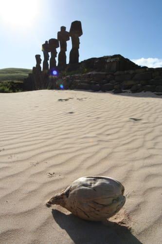 イースター島モアイ アナケナ海岸