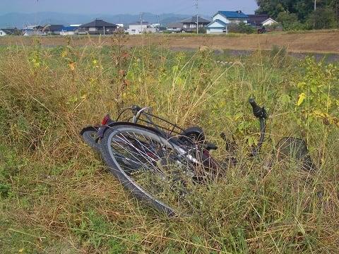 ... 自転車 投げ捨てられた 自転車