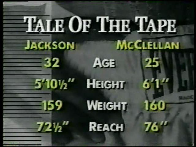 ジュリアン・ジャクソン対ジェラルド・マクラレン(1993/05/08) - box観戦記録