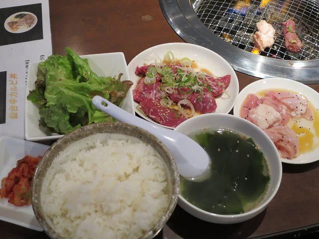 牛カルビ+シマチョウ+ランチセット