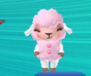 ピンクのひつじの着ぐるみをまとった、メイドのメイちゃん