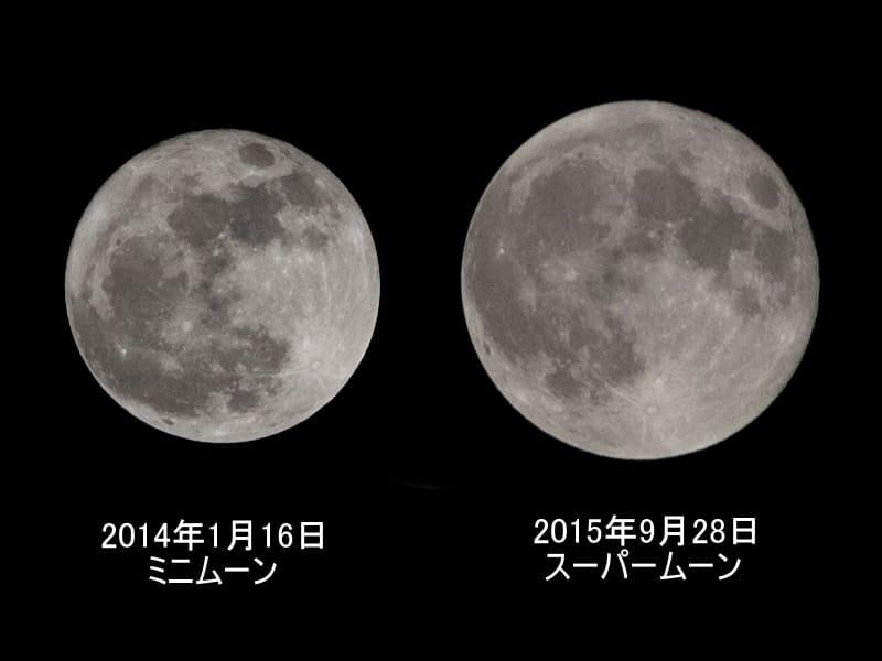09月28日 月の大きさ比較