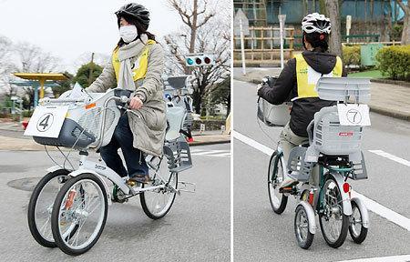 今日から自転車3人乗りOK! だけど・・・。 - 午後のひととき