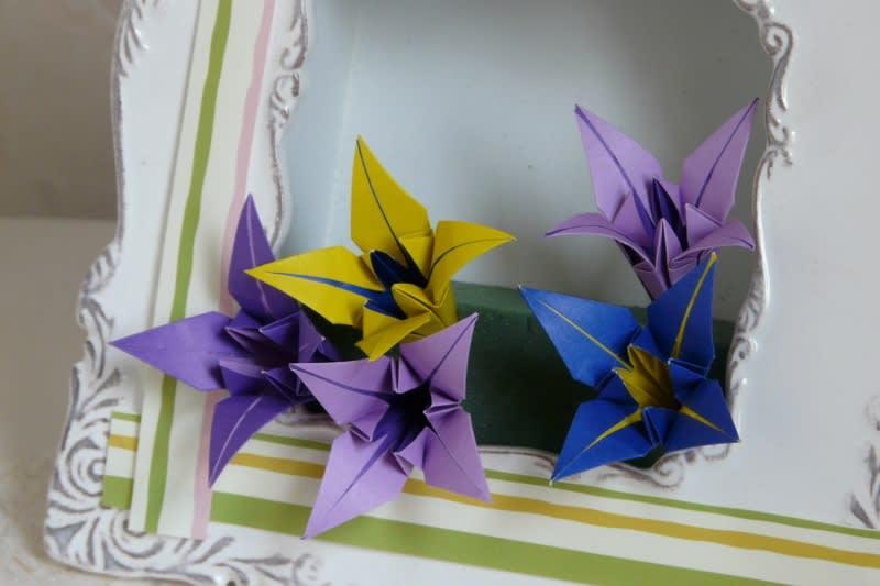 ハート 折り紙 折り紙 あやめの折り方 : blog.goo.ne.jp