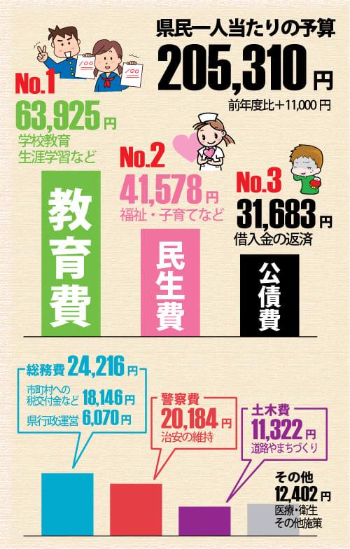 神奈川県 県民一人当たりの予算 平成26年