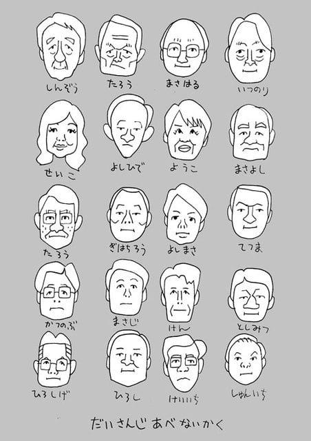 第三次安倍内閣の似顔絵