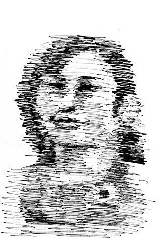 土性沙羅選手の似顔絵