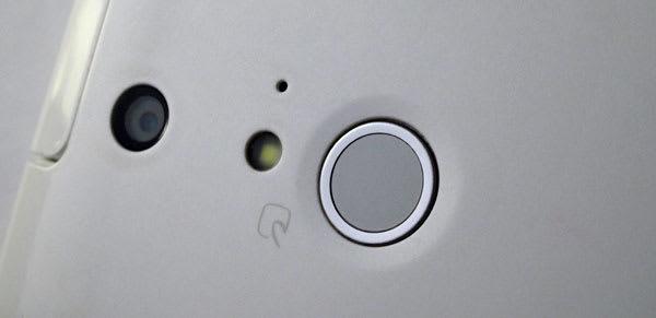 指紋センサつきスイッチ