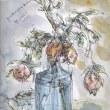 朝日記180223  ヴァイツゼッカーのゲシュタルト・クライスを読むことと、過去の2月23日朝日記と今日の絵