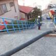 高台での基礎コンクリート打設