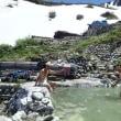 温泉と山のコラボ