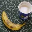 甘酒とバナナの朝