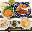 カツオの竜田焼きの夜ごはんと 今夜は すいとんディナー