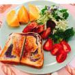「トミーズ」のあん食で朝ごはんと すっごく美味しい柿