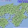 12月15日 アメダスと天気図。