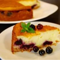 アジサイの挿し木とブルーベリーチーズケーキ