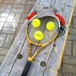 テニスの壁打ち