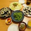 孫ちゃん達の好物のサラダ巻きと肉巻き寿司☆