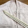 太い糸で編むベスト