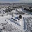 """雪に埋もれた""""五稜郭""""..."""