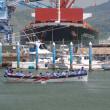 2018/5/15の富士山と清水港の船