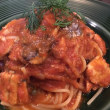イタリアン・レストランで夕食;パスタ