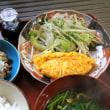 チーズオムレツ・野菜炒め・芹のおつゆ・・・朝餉