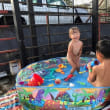 お祭りとプール