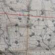 ネットで見える古地図資料館 日本古地図学会 大図大阪府と奈良県.兵庫県の一部 明治42年 全部で15枚張り合わせ済み
