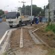 歩道の改修工事 (1)