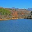 山の中の小さな湖